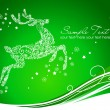 Reindeer on Green background  — Stock Vector