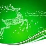 Reindeer on Green background — Stock Vector #34062581
