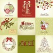 Christmas Cards — Vettoriali Stock
