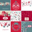 Stock Vector: Christmas Cards