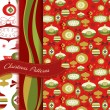 Retro Christmas patterns — Vettoriali Stock