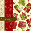 Retro Christmas patterns — Imagen vectorial