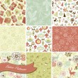 Christmas Seamless backgrounds — Imagen vectorial