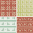 Scandinavian seamless patterns — Vettoriale Stock