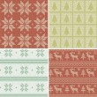 Scandinavian seamless patterns — Stock vektor