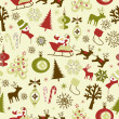 Stock Vector: Christmas seamless pattern