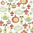 Stock Vector: Christmas and New Year seamless pattern