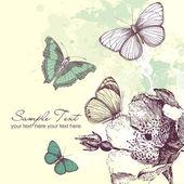 Motyl tło — Wektor stockowy