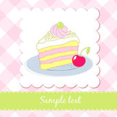 Piece of cake — Stock Vector