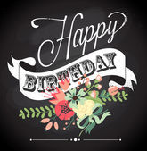 Doğum günü kartı — Stok Vektör