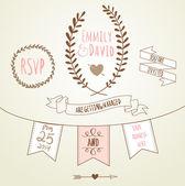 Wedding Invitation Template. — Stock Vector