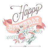 Kartka urodzinowa — Wektor stockowy