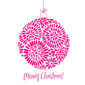 Pink Christmas ball — Stock Vector