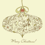 Christmas ornament — Vector de stock