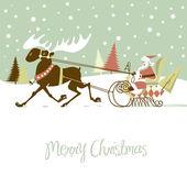 Retro vánoční přání — Stock vektor