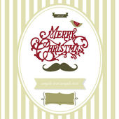 Vintage Christmas template — Stock Vector