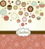 ретро рождественские украшения — Cтоковый вектор
