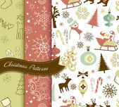 Retro Christmas patterns — Stock Vector