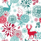 Teste padrão floral de natal — Vetorial Stock