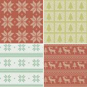 Scandinavian seamless patterns — Stock Vector