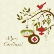 Vector de stock : Christmas bird