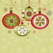 Christmas Ornaments — Vector de stock #34452351