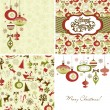 Christmas Retro backgrounds  — Imagen vectorial