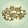 Merry Christmas lettering — Stock Vector
