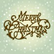 Merry Christmas lettering — Stock Vector #34453627