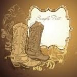 Cowboy boots — Stock Vector #34453873