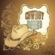 Cowboy hoed ontwerp — Stockvector