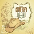 Cowboy hat design — Stockvektor