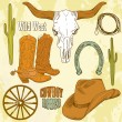 Wild West Western Set — Stock Vector
