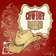 Vector de stock : Cowboy hat design