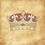 Vintage kroon — Stockvector