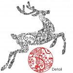 Christmas deer — Vector de stock  #34454369