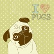 Little pug — Stock Vector #34455027