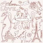 Paris doodles — Stock Vector