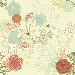 Retro floral background — Stock Vector