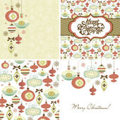 Christmas Retro backgrounds — Stock Vector