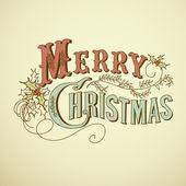 Letras de natal feliz — Vetor de Stock