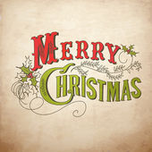 Merry christmas belettering — Stockvector