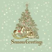 Christmas Card . — Stockvektor
