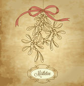 Vintage Christmas Mistletoe — Stock Vector