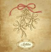 Vintage Christmas Mistletoe — Stock Vector