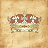 Vintage Crown — Vettoriale Stock