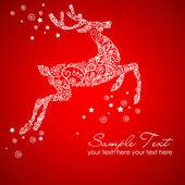 Weihnachten hirsch — Stockvektor