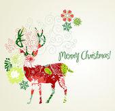 圣诞鹿 — 图库矢量图片
