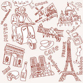 Paris doodles — Stockvektor