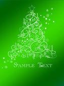 рождественская елка карты — Cтоковый вектор